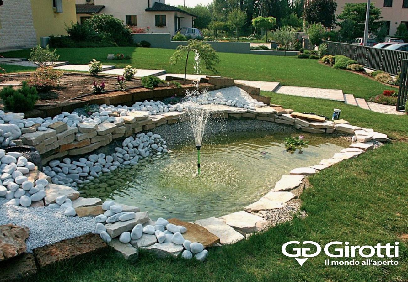 Laghetti e fontane da giardino girotti il mondo all 39 aperto for Fontana artificiale