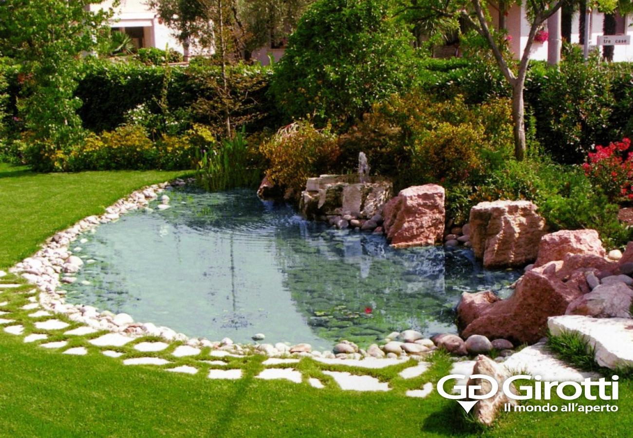 Laghetti e fontane da giardino girotti il mondo all 39 aperto for Pompe per laghetti da giardino