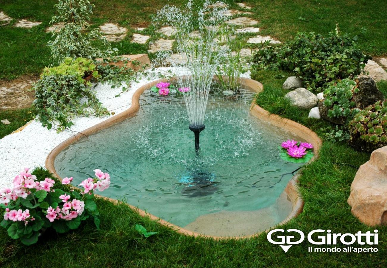 Laghetti e fontane da giardino girotti il mondo all 39 aperto for Fontana fai da te