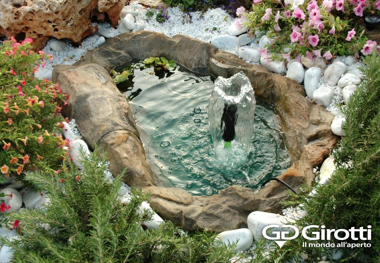Laghetti e fontane da giardino girotti il mondo all 39 aperto for Pompe per fontane da giardino