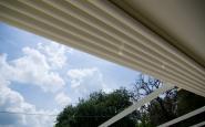 PIZZERIA 2P - dettaglio tenda impermeabile apribile