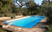 piscina a skimmer con scala romana