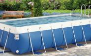 piscina morbida azzurra