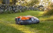 robot tagliaerba (in grado di muoversi anche su terreni non pianeggianti)